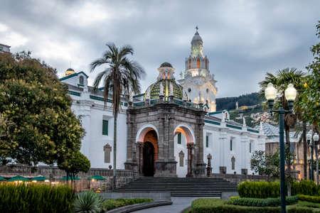 Plaza Grande and Metropolitan Cathedral - Quito, Ecuador Banco de Imagens - 79664944