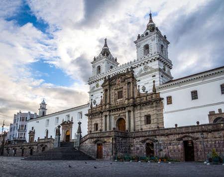 Plaza de San Francisco and St Francis Church - Quito, Ecuador Stock Photo