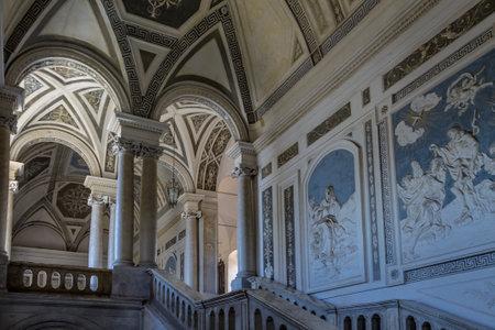 cloister: Interior of Benedictine Monastery of Saint Nicholas Arena - Catania Sicily Italy