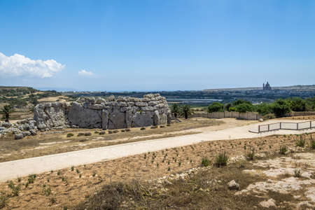Ggantija Temple Neolithic megalith complex ruins - Gozo, Malta
