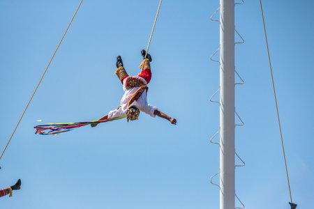Dance of the Papantla Flyers (Papantla Flyers) - Puerto Vallarta, Jalisco, Mexico