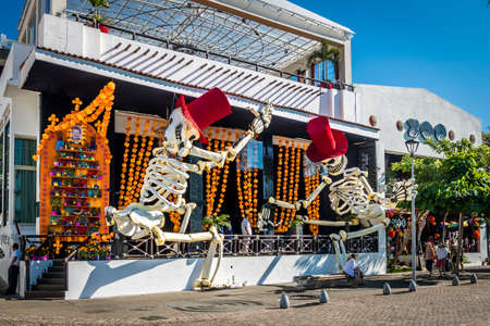 Day of the Dead Store Decoration - Puerto Vallarta, Jalisco, Mexico