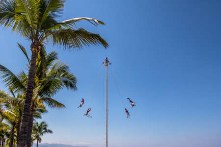 unesco: Dance of the Papantla Flyers (Papantla Flyers) - Puerto Vallarta, Jalisco, Mexico