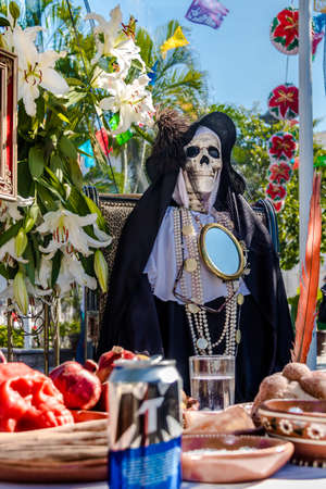 Day of the Dead (Day of the Dead) Decoration - Puerto Vallarta, Jalisco, Mexico 에디토리얼