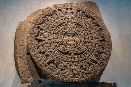 The Aztec Sunstone at The National Museum of Anthropology (National Museum of Anthropology, MNA) - Mexico City, Mexico