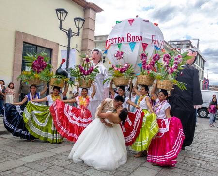 Typical Regional Mexican Wedding Parade know the Calenda de Bodas - Oaxaca, Mexico Editorial