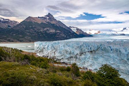 calafate: Perito Moreno Glacier at Los Glaciares National Park in Patagonia - El Calafate, Santa Cruz, Argentina Stock Photo