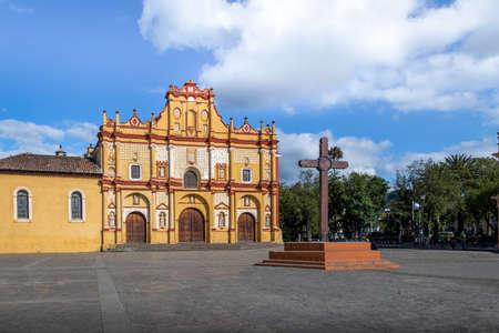 San Cristobal de las Casas Cathedral and Square with the Cross - San Cristobal de las Casas, Chiapas, Mexico