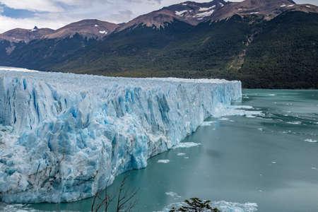 Perito Moreno Glacier at Los Glaciares National Park in Patagonia - El Calafate, Santa Cruz, Argentina Stock Photo