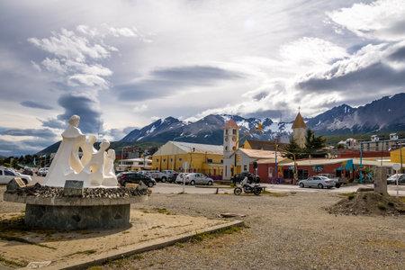 tierra del fuego: Ushuaia City view in Patagonia - Ushuaia, Tierra del Fuego, Argentina