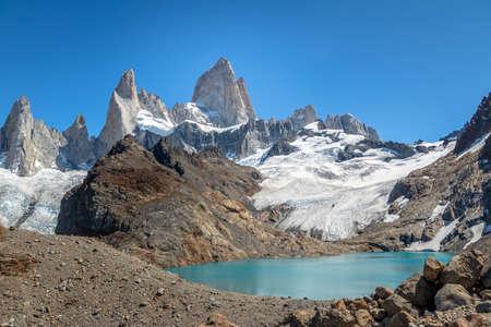 Mount Fitz Roy and Laguna de Los Tres in Patagonia - El Chalten, Argentina