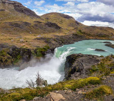 Salto Grande Waterfall at Torres del Paine National Park - Patagonia, Chile