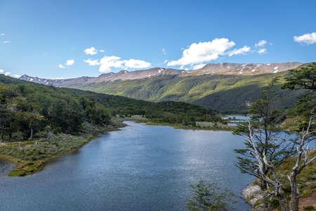 tierra del fuego: Roca Lake at Tierra del Fuego National Park in Patagonia - Ushuaia, Tierra del Fuego, Argentina