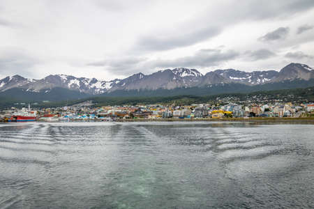 provinces: Ushuaia City view and mountains in Patagonia - Ushuaia, Tierra del Fuego, Argentina