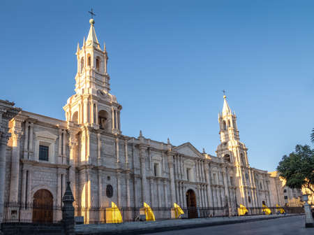 Cathedral at Plaza de Armas - Arequipa, Peru
