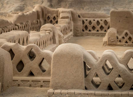 Alte Ruinen von Chan Chan - Trujillo, Peru Standard-Bild - 82013004