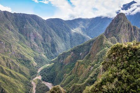 마 츄 피 츄 잉카 유적 - 페루 신성한 밸리 스톡 콘텐츠