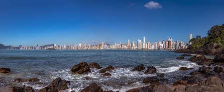 Panoramic view of Balneario Camboriu city skyline - Balneario Camboriu, Santa Catarina, Brazil Stock Photo