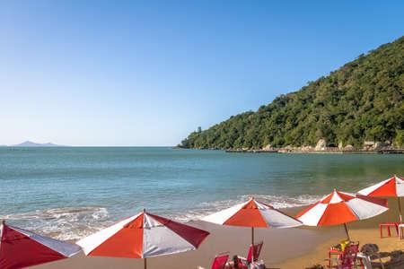 Praia de Laranjeiras Beach - Balneario Camboriu, Santa Catarina, Brazil Stock Photo