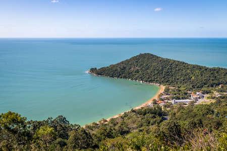 Aerial view of Praia de Laranjeiras Beach - Balneario Camboriu, Santa Catarina, Brazil