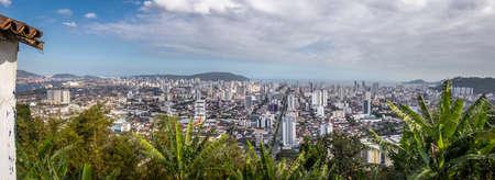 Aerial view of Santos City - Santos, Sao Paulo, Brazil Stock Photo