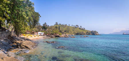 Panoramic view of Praia do Portinho beach - Ilhabela, Sao Paulo, Brazil