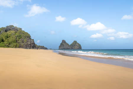 Morro Dois Irmaos and Bode Beach (Praia do Bode) - Fernando de Noronha, Pernambuco, Brazil
