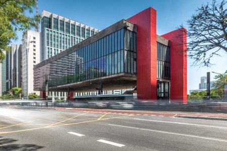 Avenida Paulista y MASP (Museo de Arte de Sao Paulo) - Sao Paulo, Brasil
