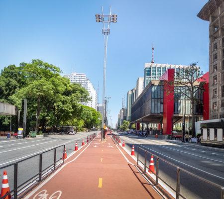 Paulista Avenue Bike Lane - Sao Paulo, Brazil