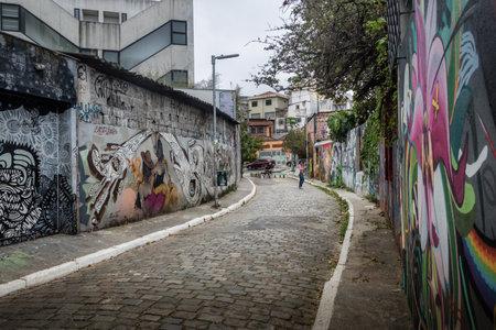 Alley of Batman (Batman Alley) in Vila Madalena - Sao Paulo, Brazil
