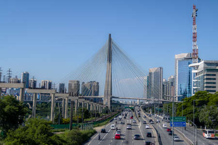 Octavio Frias Bridge or Ponte Estaiada - Sao Paulo, Brazil