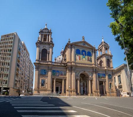 Porto Alegre Metropolitan Cathedral in downtown - Porto Alegre, Rio Grande do Sul, Brazil