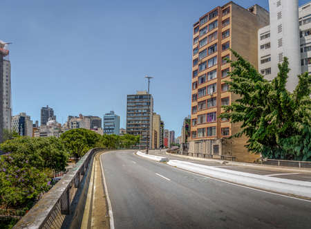 Elevated highway known as Minhocao (Elevado Presidente Joao Goulart) - Sao Paulo, Brazil