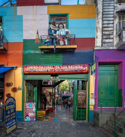 Artist Cultural Center in colorful neighborhood La Boca - Buenos Aires, Argentina Editorial
