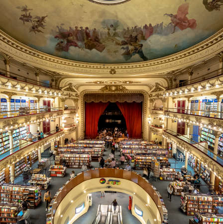 Interior of El Ateneo Grand Splendid bookshop - Buenos Aires, Argentina