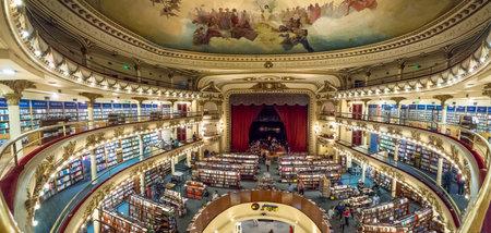 Wnętrze księgarni El Ateneo Grand Splendid - Buenos Aires, Argentyna Publikacyjne