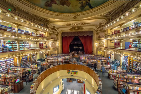 Wnętrze księgarni El Ateneo Grand Splendid - Buenos Aires, Argentyna