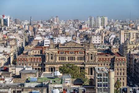 Aerial view of Argentina Supreme Court of Justice - Buenos AIres, Argentina