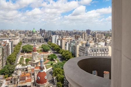 Vista aérea de la Plaza Congreso desde el balcón del Palacio Barolo - Buenos Aires, Argentina Editorial