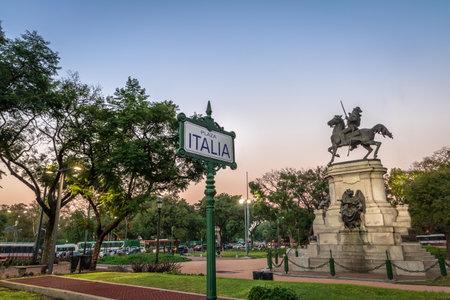 Plaza Italia in Palermo - Buenos Aires, Argentina Éditoriale