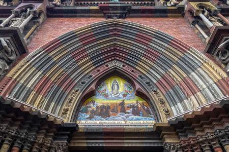 Detail of Capuchins Church or Sacred Heart Church (Iglesia del Sagrado Corazon) - Cordoba, Argentina Foto de archivo - 105386264