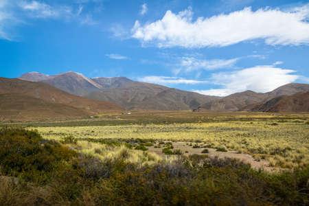 Valley in Rosario de Lerma with Nevado del Acay Mountain on background - Rosario de Lerma, Salta, Argentina