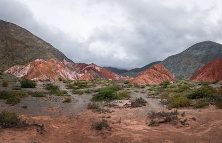 Mountains and landscape of Purmamarca - Purmamarca, Jujuy, Argentina Stock Photo