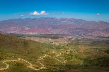 High view of Valley at Quebrada de Humahuaca - Humahuaca, Jujuy, Argentina