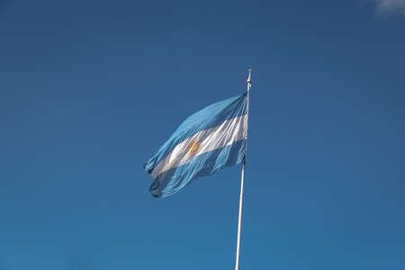 Argentina Flag on a blue sky background