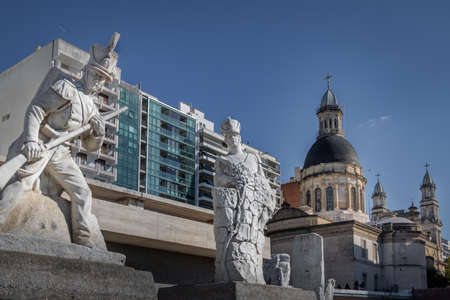 Lola Mora Soldier Sculptures at National Flag Memorial - Rosario, Santa Fe, Argentina 報道画像
