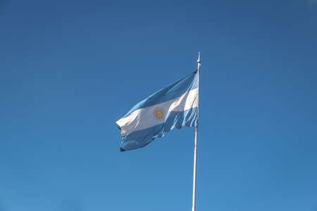 Argentina Flag on a blue sky background
