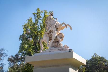 Marly horses (Caballitos de Marly) Sculpture at General San Martin Park - Mendoza, Argentina