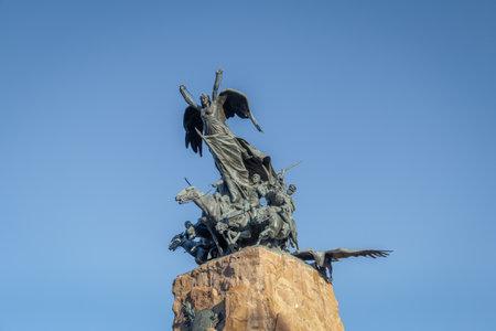 Army of the Andes Monument in Cerro de la Gloria at General San Martin Park - Mendoza, Argentina Editorial