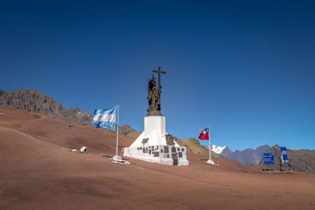 Christ the Redeemer of the Andes (Christ the Redeemer of the Andes) Monument on the border of Chile and Argentina in the Cordillera de Los Andes - Mendoza Province, Argentina